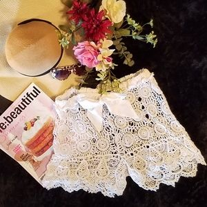 Other - Crochet Swimsuit Coverup Shorts